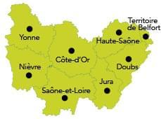 Carte Bourgogne Franche-Comté